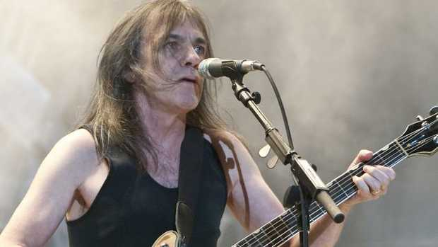 Malcolm Young from AC/DC in 2013. Picture: Charles Brewer