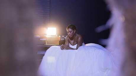 Williams has shared a photo of her in her wedding gown. Picture: Instagram/@serenawilliams
