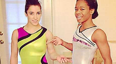 Gabby Douglas seemed to suggest that team mate Aly Raisman 'dresses provocatively'. Picture: Instagram