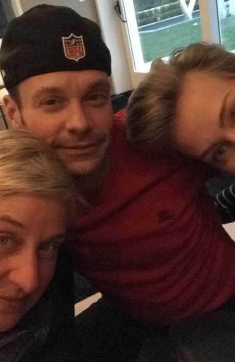 Ellen DeGeneres, Seacrest and Portia de Rossi. Picture: Instagram.
