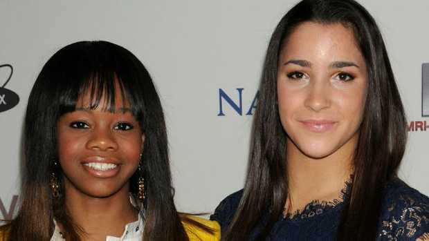 Gabby Douglas has apologised for slamming abused team mate Aly Raisman. Picture: Splash