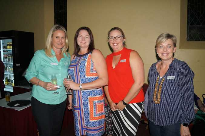 Alison Kennedy from Toowoomba Hospital Foundation, Naomi Wilson from Focus HR and Peta Sorensen from Mark Sorensen Builders at the Toowoomba Hospital Foundation thank-you function.