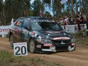 Nathan Quinn on the way to winning the Australian Rally Championship's champion driver trophy at the Kennards Hire Rally Australia.