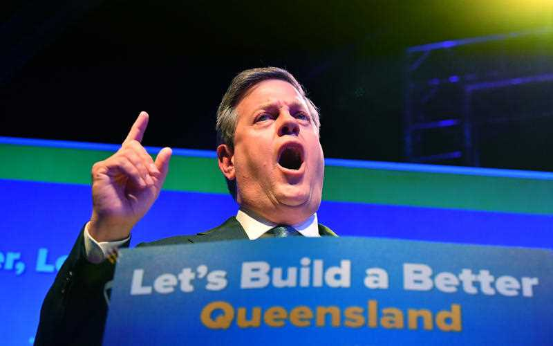 Queensland OppositIon Leader Tim Nicholls is seen at the LNP campaign launch, held at The Triffid in Brisbane during the Queensland Election campaign on Sunday, November 19, 2017. Mr Nicholls is on the campaign trail ahead of the November 25 state election.