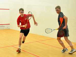 PROMISING PLAYER: Cameron Darton (left) in action in the nationals.