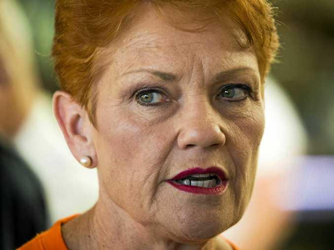 One Nation leader Senator Pauline Hanson. Her candidate in Gympie is Chelle Dobson.