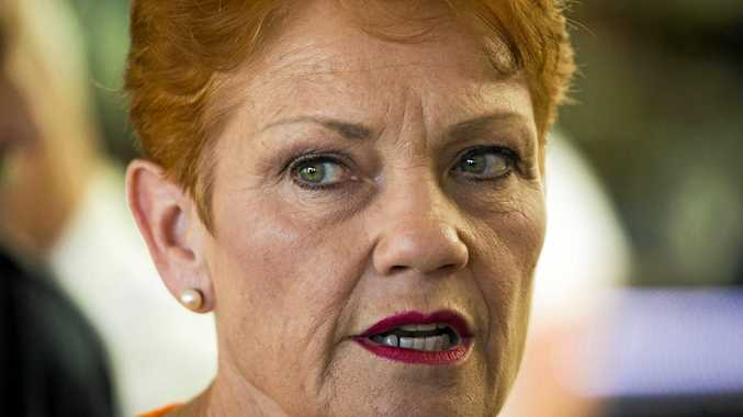 One Nation leader Senator Pauline Hanson. Her candidate in Gympie is Chelle Dobson.