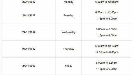 There's now a timetable for the public to use the Sarina Pool on council's website.