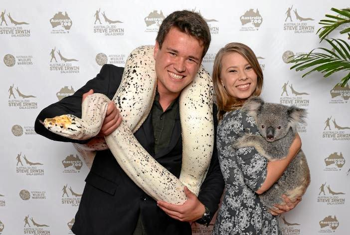 Bindi Irwin and boyfriend Chandler Powell enjoy the Steve Irwin Gala Dinner.