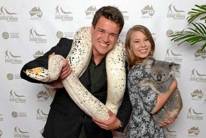 Bindi Irwin and boyfriend Chandler Powell enjoy the Steve Irwin Gala Dinner.