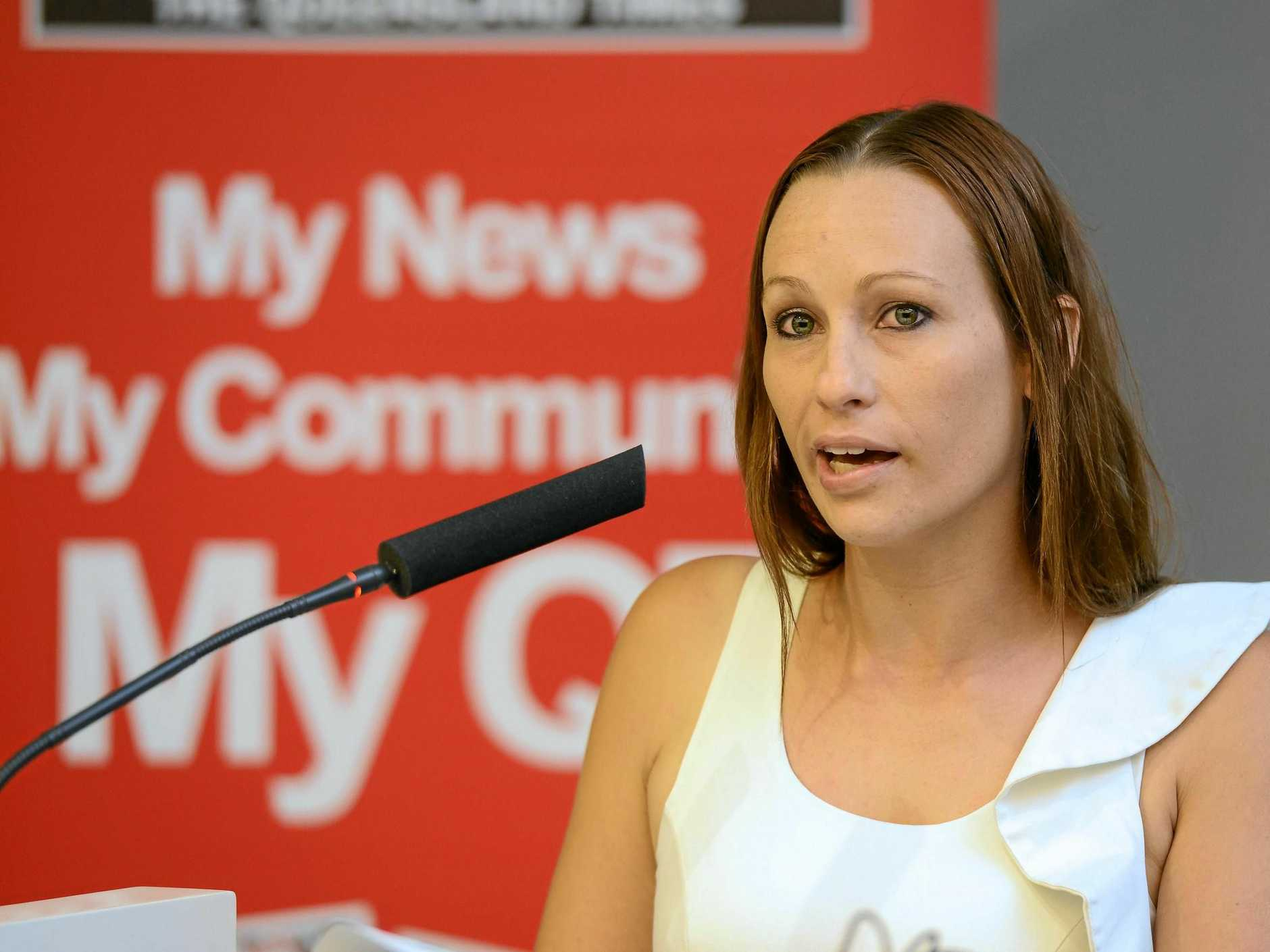 IT'S OVER: Cate Carter during her Meet the Candidates appearance during the 2016 local election campaign. Ms Carter has been cleared by the Ethical Standards Command.