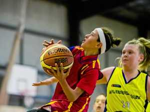 Gympie basketball on court action
