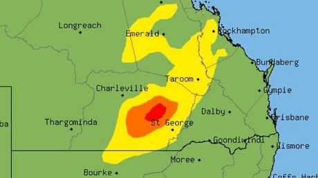 A severe thunderstorm warning has been issued for parts of CQ.