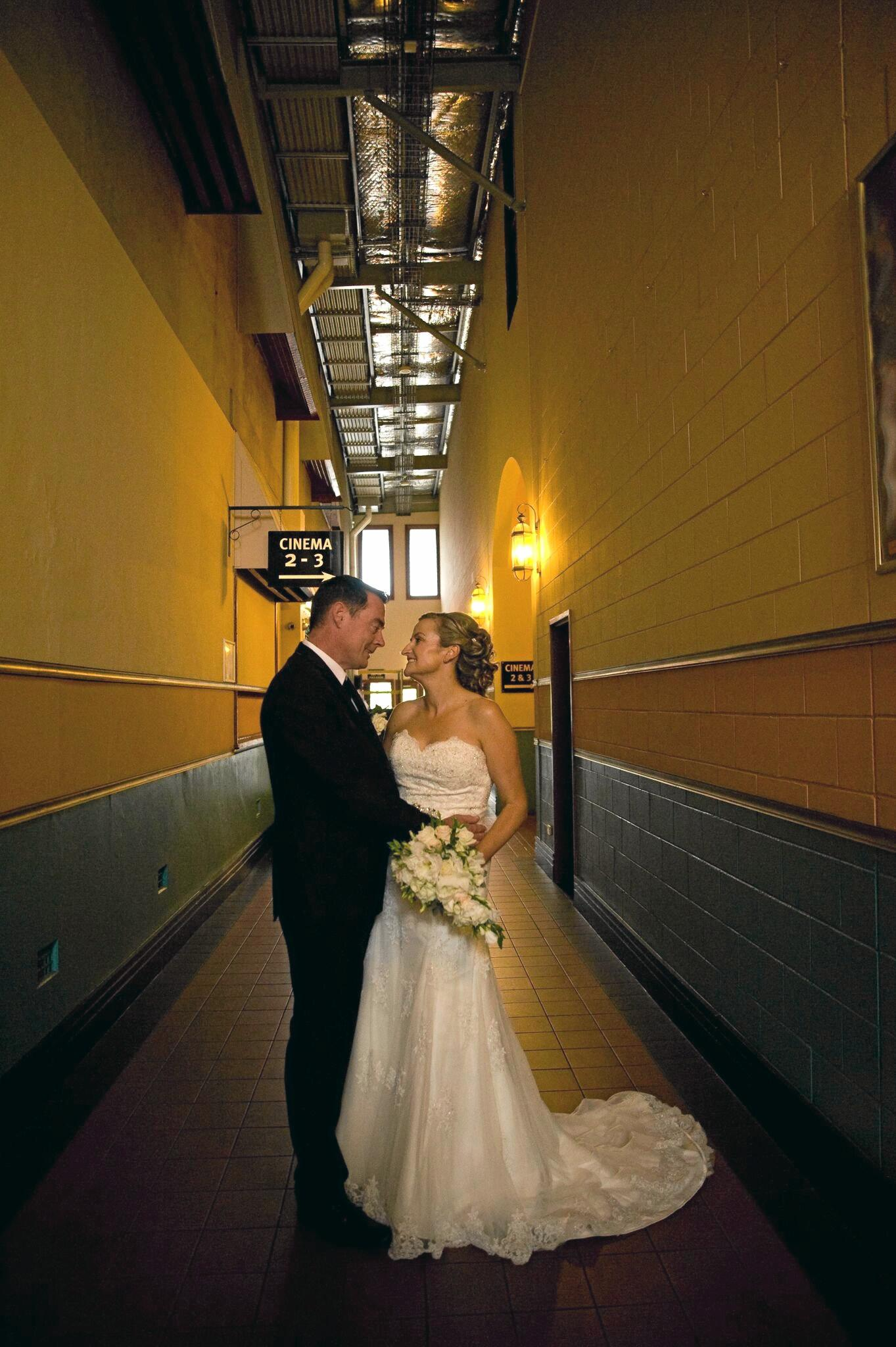 HAPPY DAY: Jason Connell and Sherry Wicken made history when they tied the knot at the Saraton Theatre on Saturday afternoon.