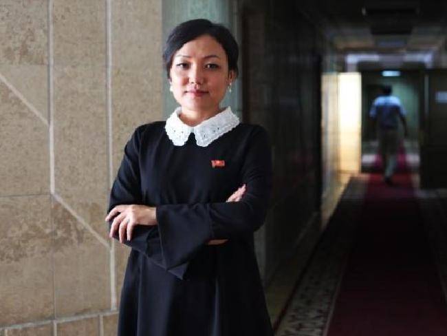 Kyrgyz MP Aida Kasymalieva. Picture: Thomson Reuters Foundation
