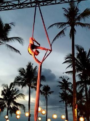 Sam Panda performing at Tony Smith's Bali resort.