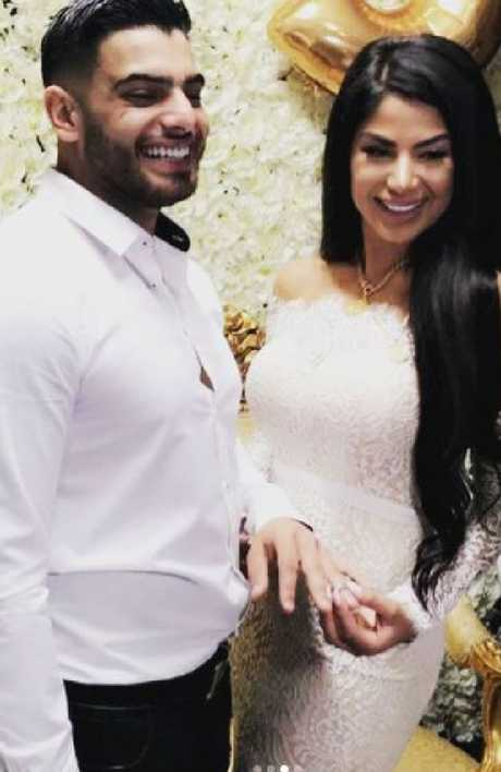 Just married: Hassan Sam Sayour and Aisha. Source: Instagram/@anitta_adattini