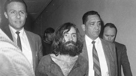 Charles Manson, shown Dec. 4, 1969, leader of a cult of hippies, some of whose members have been linked to the murder of actress Sharon Tate and seven others in the Los Angeles area. AP Photo/Harold Filan