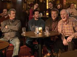 Mel Gibson, Mark Wahlberg, Will Ferrell and John Lithgow in a scene from Daddy's Home 2.