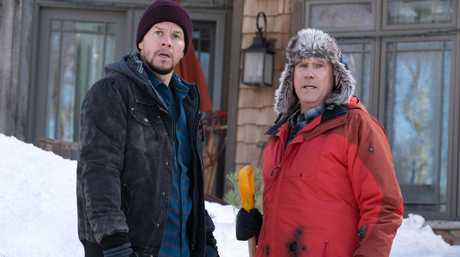 Mark Wahlberg and Will Ferrell in a scene from the movie Daddy's Home 2.