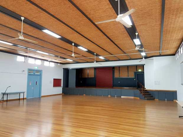 The Tommy Webster Community Hall at Walkerston is one of many in the district to be given a spruce-up with painting and flooring works.