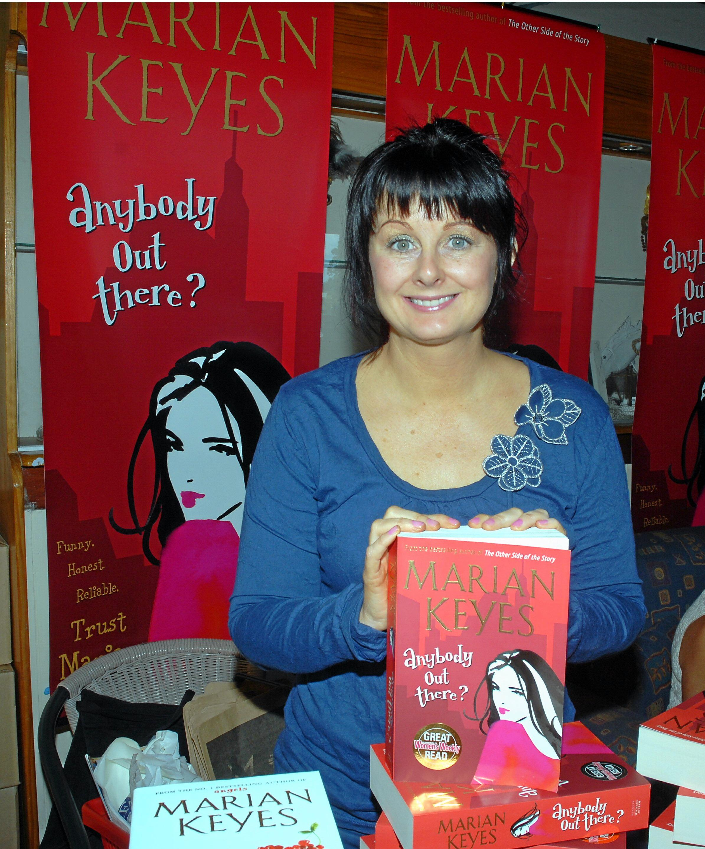 BATTLING DEMONS: It's been 11 years since Marian Keyes last visited Australia, pictured here at a Noosa book launch, as she fought off chronic depression.