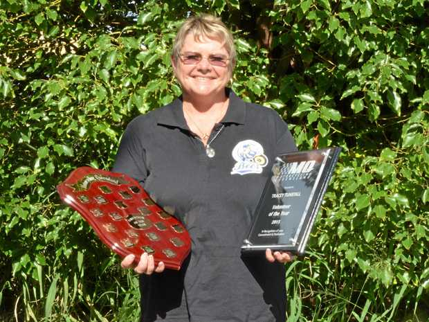 RECOGNITION: Tracey Tunstall after winning MQ Volunteer of the Year in 2016.