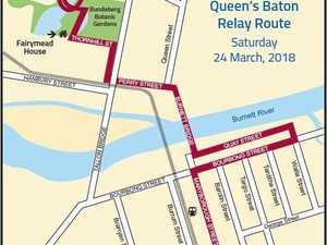 Bundaberg's baton relay route revealed