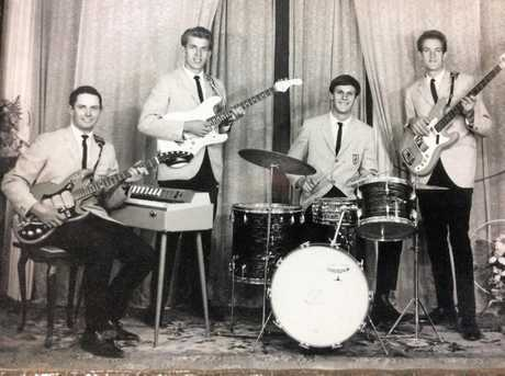 Bruce Fanning, Gerry Gosen. Keith Lees. and John Gosen, a studio photo taken at Haig Studio 1964. Bruce was 16 at the time.