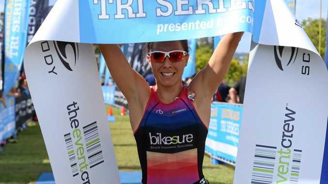CHAMP: Katey Gibb won the Kawana Triathlon  women's race.
