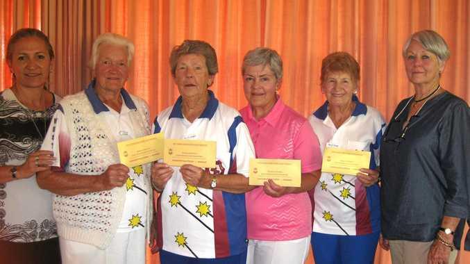 West Toowoomba Thelma Cooper, Pauline Handley, Diane Derrick and Beryl Jurgs.