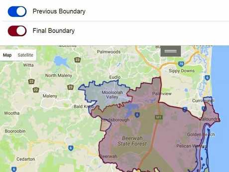 BOUNDARY: The Caloundra electorate boundaries.