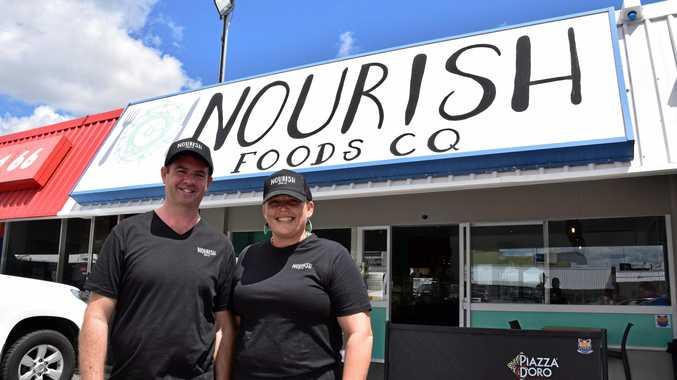 NOURISHING: Owners of Nourish Foods CQ, Matt Dwyer and Suzie Alexander.