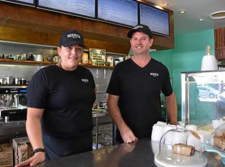 Owners of Nourish Foods CQ Suzie Alexander and Matt Dwyer.