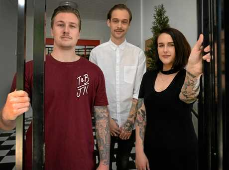 L-R Cohen Wassell, Evan Treacy and Haylee Cotter will be opening a combined hairdresser and tattoo studio combining the talents of Thieves and Beggars with The Arrows End Tattoo.