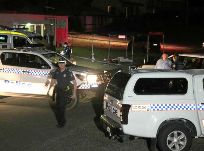 Crime scene established on Bright St, Emu Park after Kevin John Ryan was fatally stabbed in the street.