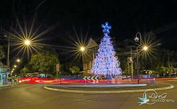 Lismore's recycled Christmas tree.