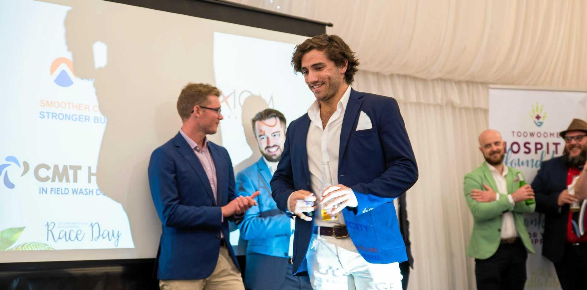 FASHION: Dalby Herald journalist Sam Flanagan won the Male Fashions on the Field.