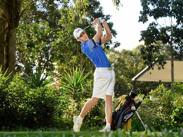 PLAYER OF THE YEAR: Brookwater Golf Club young gun Louis Dobbelaar was named Junior Queensland Player of the Year for his efforts in 2017.