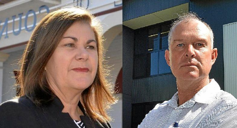 The election battle has heated up between ONP's Chelle Dobson and LNP's Tony Perrett.