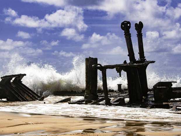 Maheno shipwreck at Fraser Island.