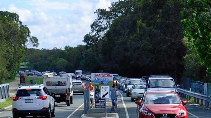 FILE PHOTO: Traffic jam on David Low Way.