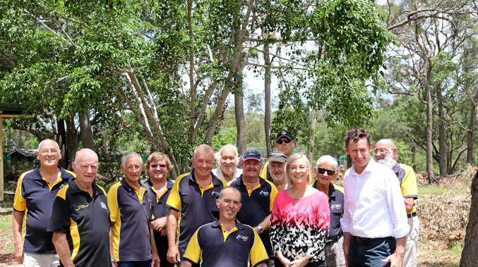 NEW HOME: Member for Bundaberg Leanne Donaldson with members of the Bundaberg Central Men's Shed.
