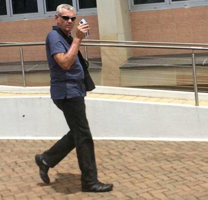 Paul Lovett leaves Bundaberg Magistrates Court.