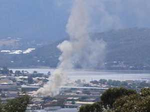 Four flee large fire in Hobart's northern suburbs