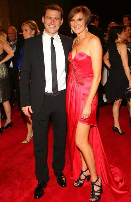 Karl Stefanovic and Thorburn arrive on the red carpet ahead of the 2011 Logie Awards.