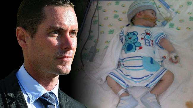 Nicholas Baxter is accused of murdering six-week-old baby Matthew in November 2011.