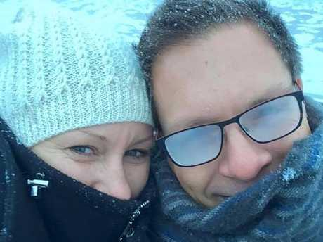 Justine Damond Ruszczyk and her fiance Don Damond during the Minneapolis winter Picture: Supplied