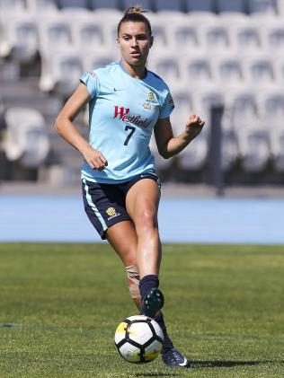 Steph Catley at Matildas training in Melbourne.
