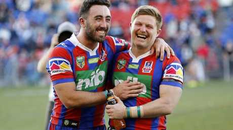 Brock Lamb (left) could learn plenty from Pearce.
